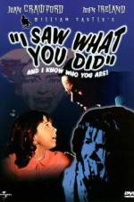 Watch I Saw What You Did 123movies