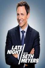 late night with seth meyers tv poster